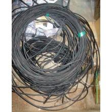 Оптический кабель Б/У для внешней прокладки (с металлическим тросом) в Подольске, оптокабель БУ (Подольск)
