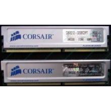 Память 2 шт по 512Mb DDR Corsair XMS3200 CMX512-3200C2PT XMS3202 V5.2 400MHz CL 2.0 0615197-0 Platinum Series (Подольск)